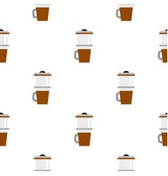 Mug for coffee pattern seamless vector