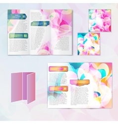 Multicolored brochure template vector