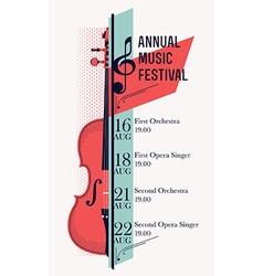 Music Festival Banner Template vector image
