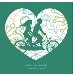 mysterious green garden couple on tandem vector image
