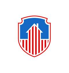 national protection usa house symbol us flag vector image