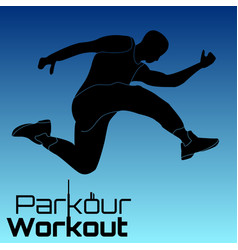 Parkour figure flat elements vector
