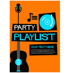 Party playlist vector