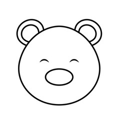 polar bear cute character vector image