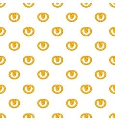 Pretzels pattern cartoon style vector