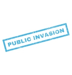 Public Invasion Rubber Stamp vector image