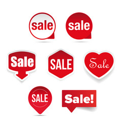 sale label sticker set vector image
