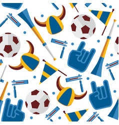 seamless pattern about football fan and vector image