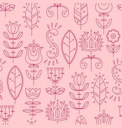 Seamless pattern in scandinavian style flat style vector