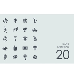 Set of basketball icons vector image