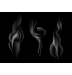 set of dark smoke vector image