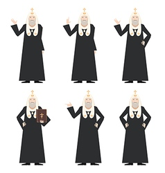 Set of patrirarches orthodox church vector
