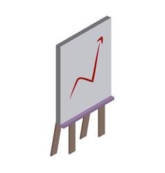 statistics growing on whiteboard vector image