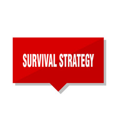 Survival strategy red tag vector
