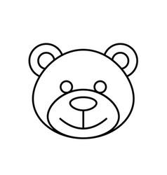 Teddy bear linear icon vector