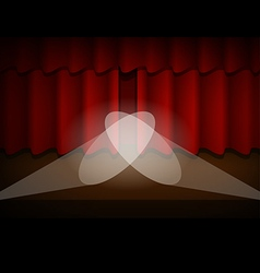 The Scene with the Red Curtain vector image