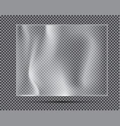 transparent light polyethylene banner vector image