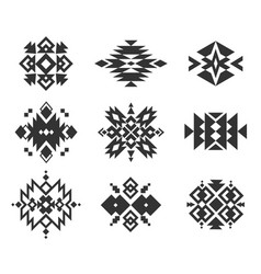 tribal indian ornaments ethnic monochrome vector image