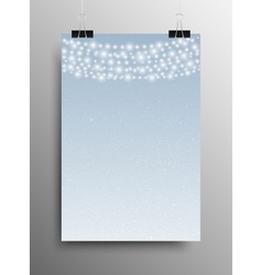 Vertical Poster Snow Garland Christmas New Year vector image