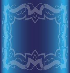 Vintage royal background dark blue floral luxury o vector