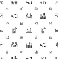 Volume icons pattern seamless white background vector