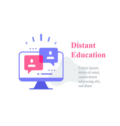 Webinar concept online course distant education vector