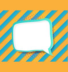 blank speech bubble in comic book pop art style vector image vector image