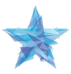 Creative polygon star vector image vector image