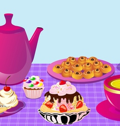 Cupcake Tea Party vector image
