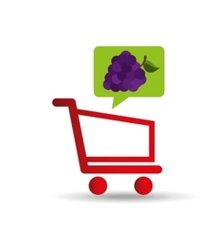 e-shopping fresh grape fruit design vector image