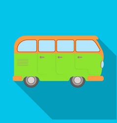 green bushippy single icon in flat style vector image vector image