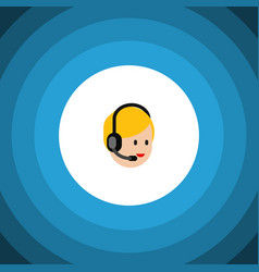 Isolated service flat icon call center vector