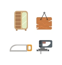 Timber icons vector image vector image