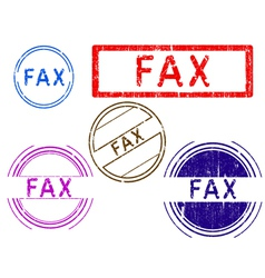 5 grunge stamps fax vector