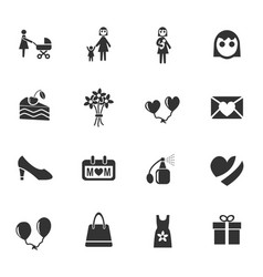 mohter day icon set vector image vector image