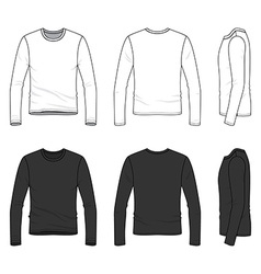 Simple outline drawing of a mens blank tee vector image vector image