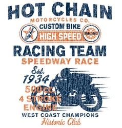 Vintage motorcycles racing team vector image vector image