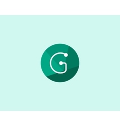 Abstract letter G logo design template Dot line vector image