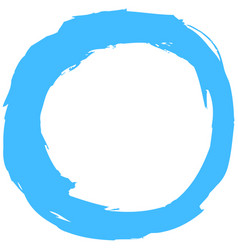 blue brushstroke circular shape vector image vector image