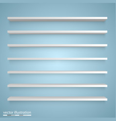 empty white shelves vector image vector image