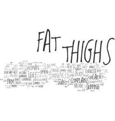 Five activities to slim and firm thighs text vector