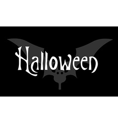 Greeting card or invitation Halloween on black vector image