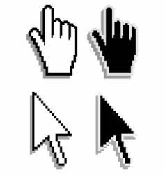 hand and arrow cursor vector image vector image