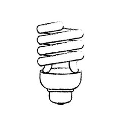 spiral bulb light vector image