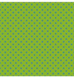 Tile pattern blue polka dots on green background vector image vector image