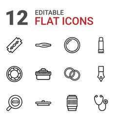 12 macro icons vector