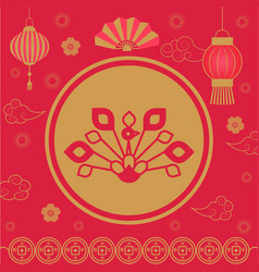 2019 chinese new year holiday spring festival vector