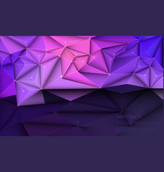 3d geometric polygon with molecule structure vector image