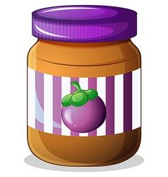 A jar of eggplant jam vector image vector image