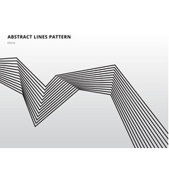 abstract black stripe lines graphic optical art vector image